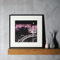 黑鸡翅M 裱画框外框洗照片加相框定制拼图装裱a4a3实木质挂墙创意