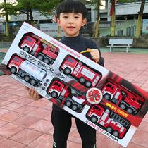 大号耐摔消防车玩具套装儿童可喷水云梯车升降洒水工程车男孩汽车