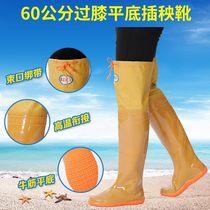 超高筒男女下水裤雨靴雨鞋水田袜插秧鞋捕鱼加长涉水鞋钓鱼鞋过膝