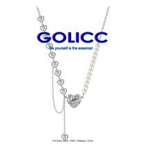 GOLICC爱心珍珠链子拼接项链女夏ins嘻哈桃心锁骨链轻奢小众颈链