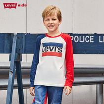 【薇娅推荐】levi's童装儿童长袖T恤2020新款春秋装纯棉男童t恤潮