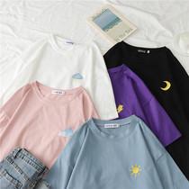 2020年女装春季短袖t恤新款ins夏装宽松学生韩版情侣装半袖上衣潮