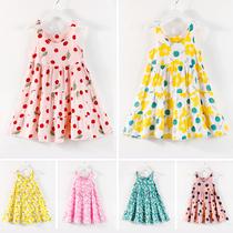 儿童夏装女宝宝公主吊带裙小女孩童装女童连衣裙棉绸小童洋气裙子