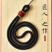 高档吊坠挂绳项链绳子加粗玉佩器石固定套头手工编织男女挂件脖绳