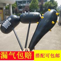 充气玩具锤子大号充气棒流星锤带刺狼牙棒卡通气球充气锤地摊货源