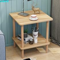 茶几简约鱼缸双层小茶几沙发边几小桌子茶桌家用小方台客厅床头柜