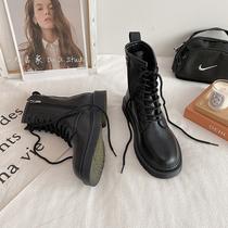 ins马丁靴女英伦风学生韩版百搭短筒靴子潮春秋季单靴2021年新款