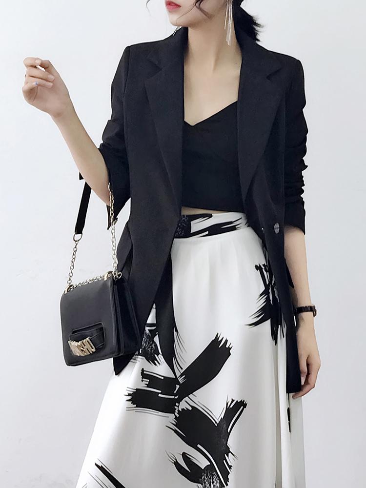Chic nhỏ phù hợp với nữ áo khoác 2018 đầu mùa thu mới của Hàn Quốc phiên bản của khí Slim eo mỏng phần mỏng phù hợp với bình thường