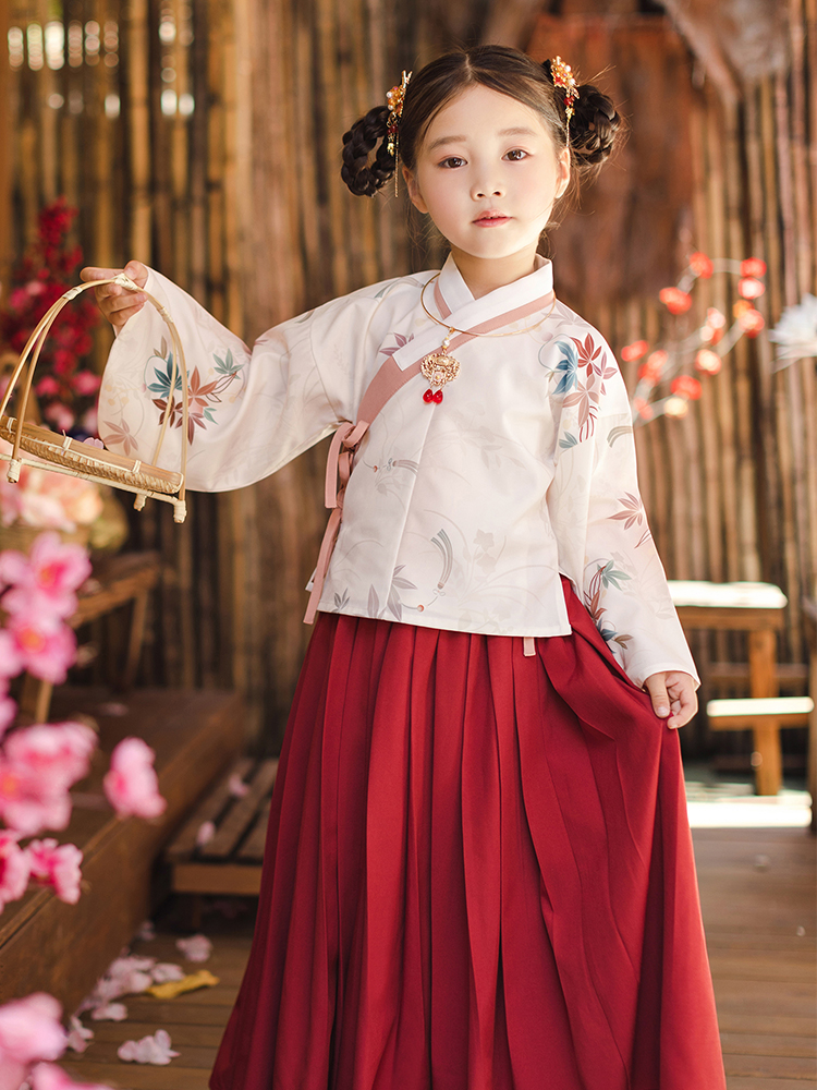 CHULI original girls' Hanfu, Chinese style Hanfu, Spring and Autumn dress