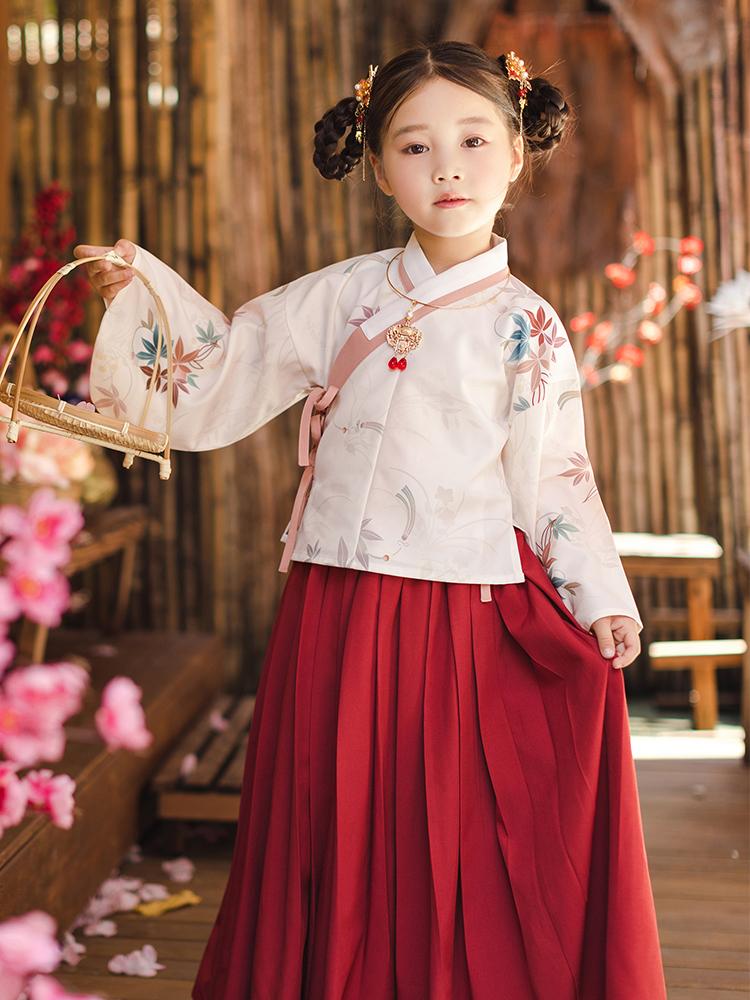 CHULI original girls' Hanfu, Chinese style Hanfu, Spring and Autumn dress