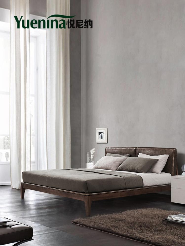 悅尼納 北歐實木床 白蠟木實木雙人床1.8米1.5米主次臥小戶型婚床