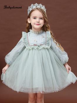 Платья, юбки,  Девочки платье осень 2020 новый западный стиль ребенок ребенок осень зима девушка плюс бархат платье принцессы сын платья, цена 2440 руб