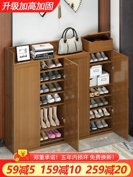 Стеллажи для хранения обуви,  Обувной домой ворота рот хранение пыленепроницаемый легко обувная полка сын большой мощность многослойный экономического типа дерево комната с несколькими кроватями стеллажи, цена 4723 руб
