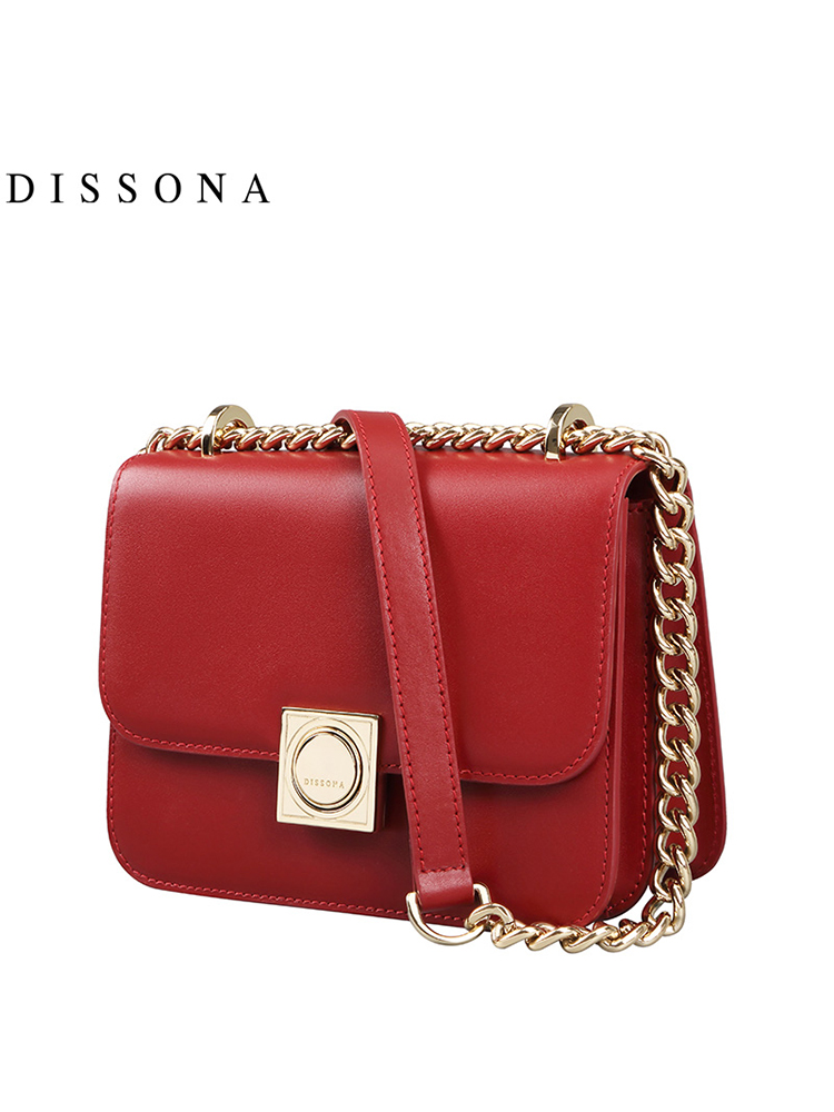 Dissona Di Sanna Handbags Small Square Bag Europe And America Simple Chain Messenger Organ