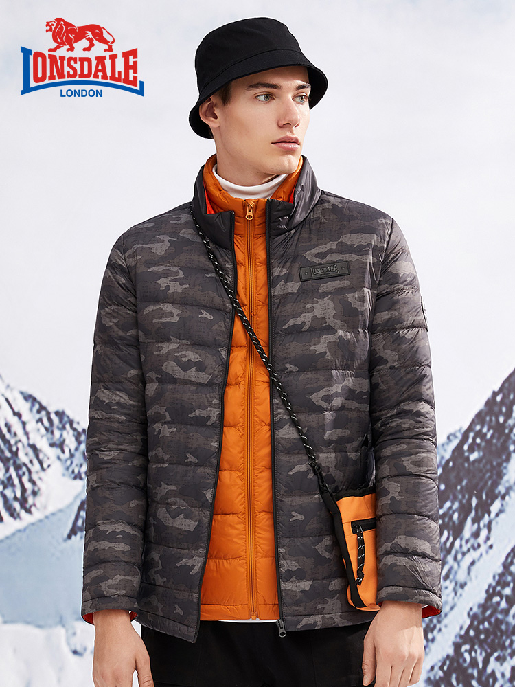 Lonsdale 龙狮戴尔 男式轻薄迷彩羽绒服外套 天猫优惠券折后¥99包邮(¥169-70)4色可选