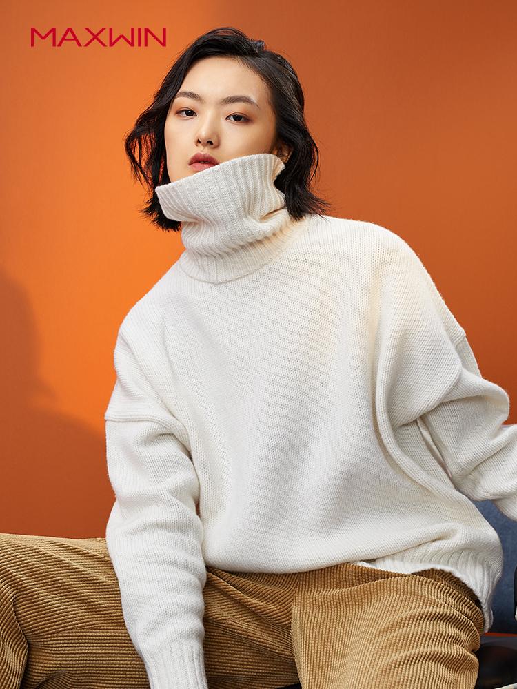 Maxwin 马威 18年冬季新款 纯色女式高领毛衣 聚划算+天猫优惠券折后¥139包邮(¥179-40)3色可选