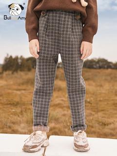 Девочки плюс ворсинки частица для вопросительного предложения брюки 2020 зимнюю одежду нового модели ребенка решетки плюс толстый брюки в больших детей прямо брюки, цена 2648 руб