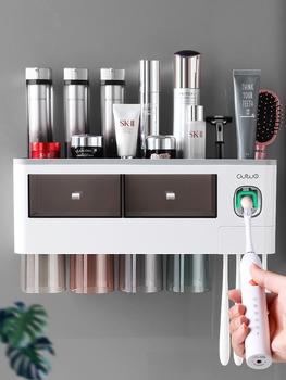 Подставки для зубных щёток,  Зубная щетка стеллажи чистите зубы чашка полоскание стена стиль ванная комната перфорация настенный чистый красный в коробку зуб цилиндр установите, цена 1782 руб