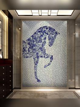 Фарфор мозаика фон стена керамическая плитка вход наклейки для стен стена сделанный на заказ головоломки самоклеящийся мозаика живопись декоративный стена, цена 886 руб