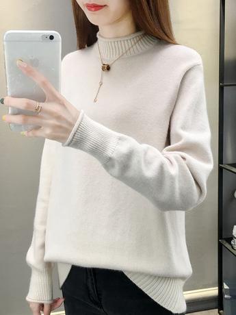   Цена 1515 руб   Водолазка свитер черный играть низ рубашки мисс осень и зима 2020 метров свободный поездка свитер утолщенные внешний надеть