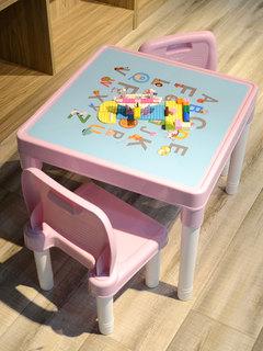 Столы и стулья для детей,  Ребенок столы и стулья установите детский сад ребенок изучение ребенок письменный стол сын стул домой пластик игрушка игра запись, цена 1525 руб