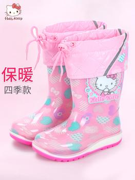 Hello kitty ребенок сапоги девочки сапоги ребенок вода обувной студент принцесса милый в больших детей геометрическом скольжение вода ботинок, цена 939 руб