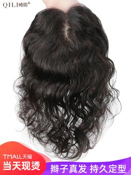 Шелк с тканным узором корея переиздание топ кудри настоящие волосы парик головы переиздание лист крышка крышка белый пушистый шерсть handwoven рекурсивный игла парик женщина, цена 2539 руб
