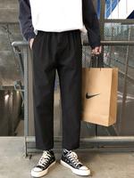 Весенние штаны мужской Свободные дикие штаны прямые Укороченные брюки для отдыха европейский покрой брюки корейская версия модные Широкие брюки