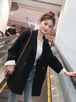 2020 новая коллекция корейская версия демисезонный европейский покрой куртка Женский прилив для отдыха нетто красный Маленький костюм комплект винтаж Весенняя одежда верх одежда