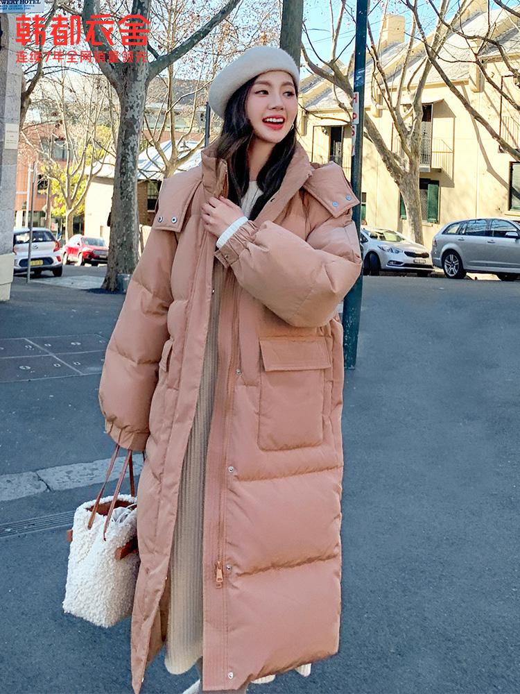 韩都衣舍 20年冬季款 长款连帽女式羽绒服 天猫优惠券折后¥269包邮(¥729-460)2色可选
