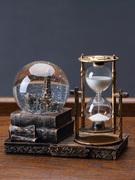 Retro đồng hồ cát trang trí bóng timer tinh thể sáng tạo trang trí nhà phòng khách tủ TV phòng rượu bảng