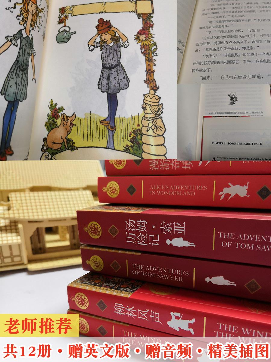 新课标学生推荐读物 中英文双语版 经典名著中英文故事阅读书籍 12册 天猫优惠券折后¥38.8包邮(¥58.8-20)