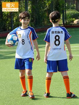 Форма клубная,  Ребенок футбол костюм мальчик девочки ученик обучение одежда джерси печать сделанный на заказ в больших детей мальчиков лето, цена 1020 руб