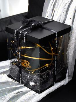 Свадебные подарочные коробки,  Ins ветер наряд баскетбол церемония упаковки коробка прозрачный большой положительным квадрат день рождения подарок коробка школьник обувь коробка, цена 425 руб
