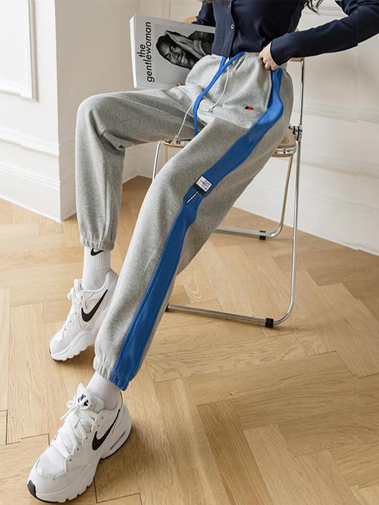 冰洁 女式束脚运动裤 撞色休闲卫裤 天猫优惠券折后¥49.9包邮(¥69.9-20)2色可选