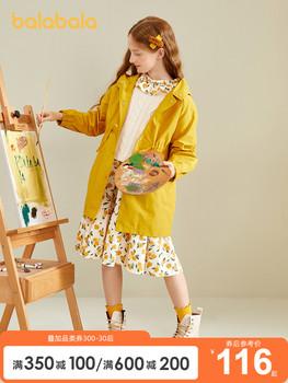 Верхняя одежда,  Бала бала девочки пальто ребенок ветровка 2020 новый весенний и осенний сбор. корейский длинная модель куртка девушка западный стиль волна, цена 2395 руб