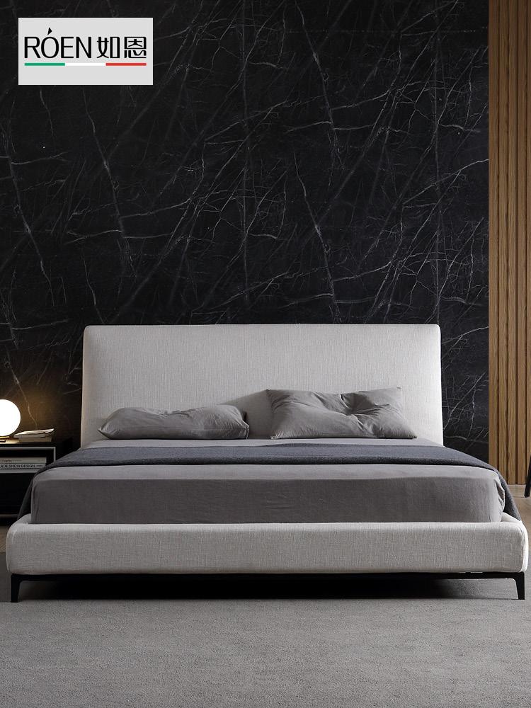 Как грейс смысл стиль современный поляк простой ткань кровать дизайнер стиль брак кровать высокий спинка господь ложь ходули двойной D105
