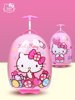 Детские дорожные сумки,  Hello kitty ребенок яичная скорлупа род коробки милая женщина ребенок 16 дюймовый чемодан мультики ребенок студент небольшой багажник, цена 2830 руб