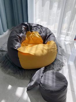 Диваны-мешки,  Бездельник фасоль мешок диван татами земля один вентилятор диван стул балкон девушка спальня один творческий мелкий песок волосы, цена 822 руб