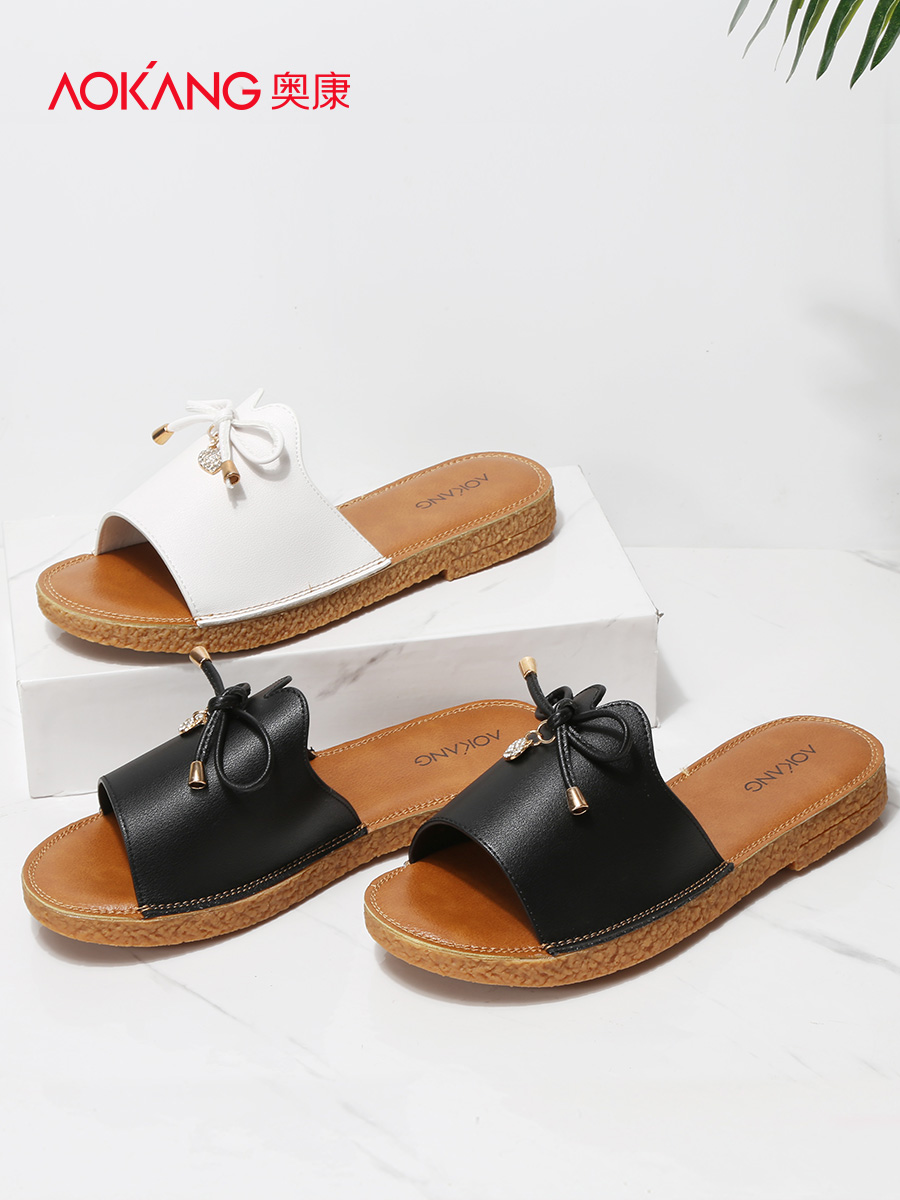 22a71e05a05309 Aokang 2018 new summer ladies sandals casual beach shoes women s slippers  daily fashion women s sandals women s