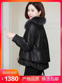 Дерма женская одежда короткое платье модель вниз одежда хайнинг шуба воротник из лисы корейский куртка пальто пальто зимний новый, цена 21621 руб