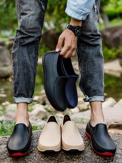 Резиновые сапоги,  Мелкий рот сапоги мужчина волна низкий лето водонепроницаемый обувной мужчина сапоги короткие трубки скольжение мойка кухня работа крышка обувной клей обувной, цена 467 руб