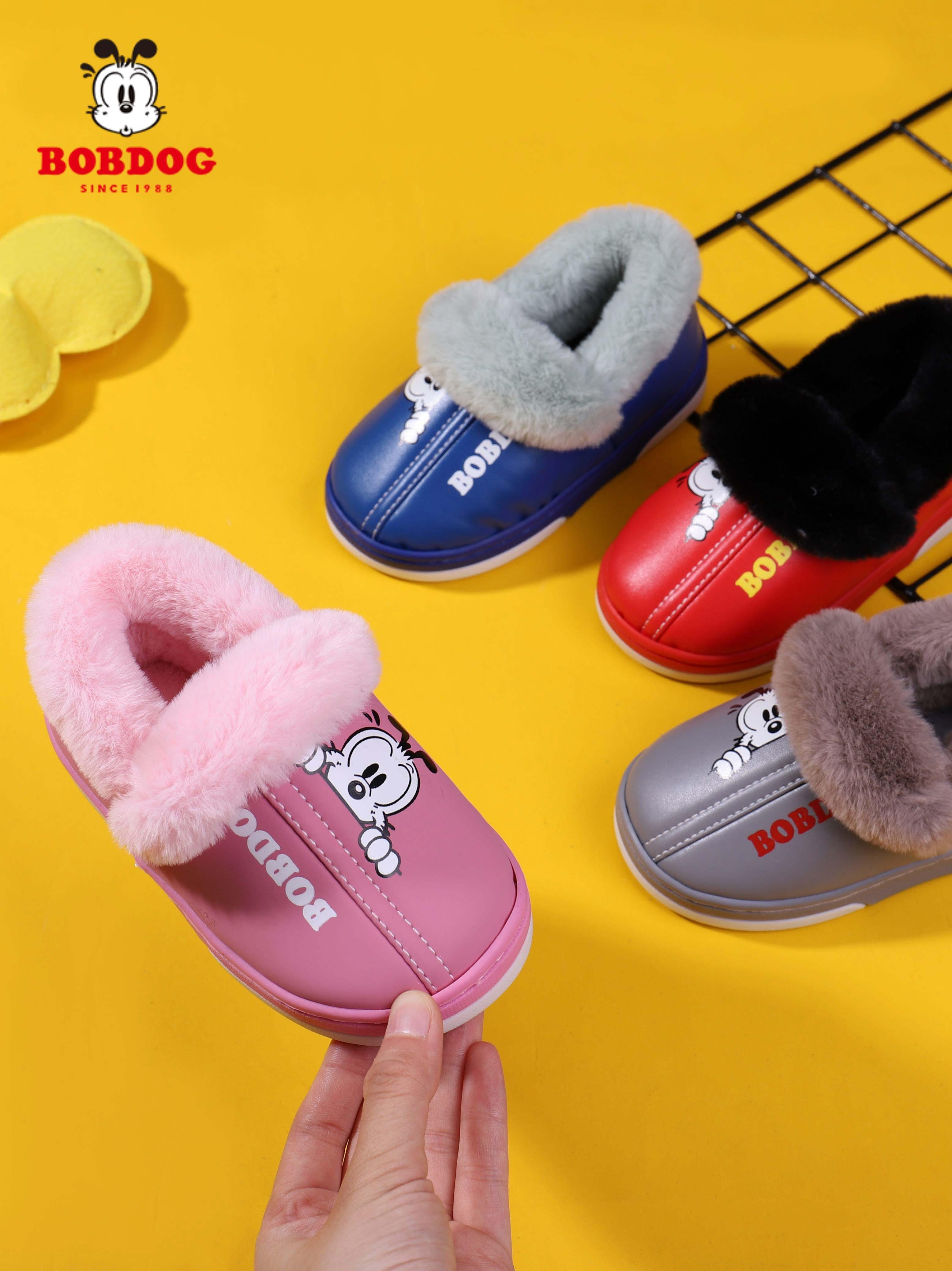 Bobdog 巴布豆 20年秋冬款 加绒保暖 儿童棉鞋 天猫优惠券折后¥25.8包邮(¥35.8-10)内长14-27cm多色可选