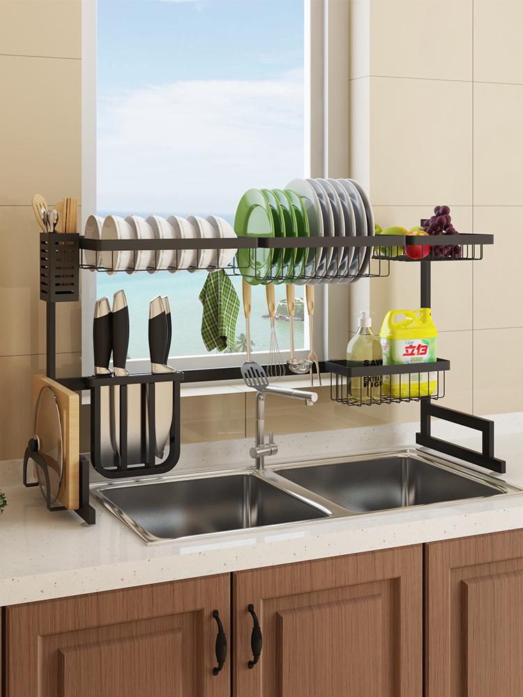 抖音同款:厨房碟碗水槽置物沥水架