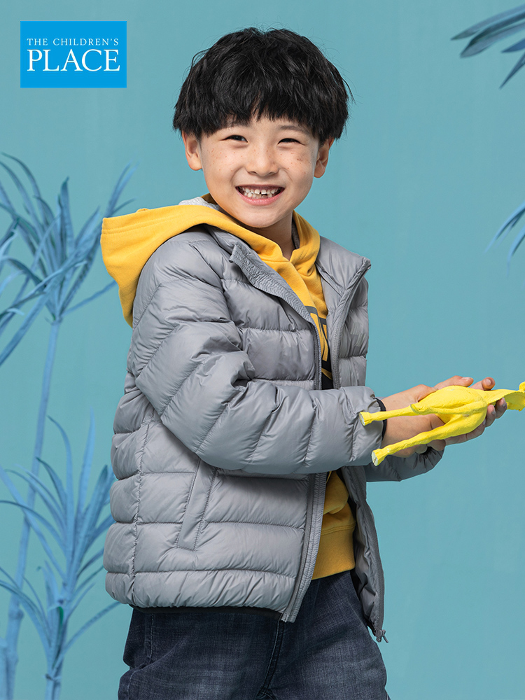 The Children's Place 绮童堡 21年秋季新款 反光印花 儿童羽绒服 天猫优惠券折后¥99.9包邮(¥241.9-142)男、女童3色可选