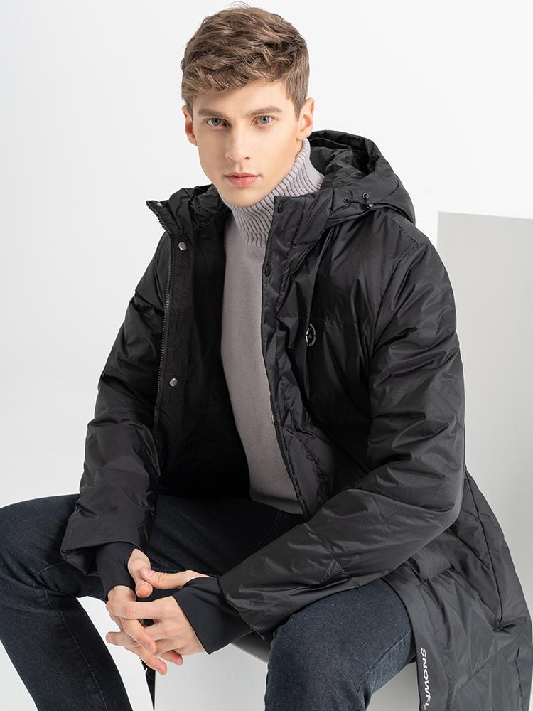 雪中飞 男式中长款加厚连帽羽绒服 凑单折后¥275.9包邮 3色可选