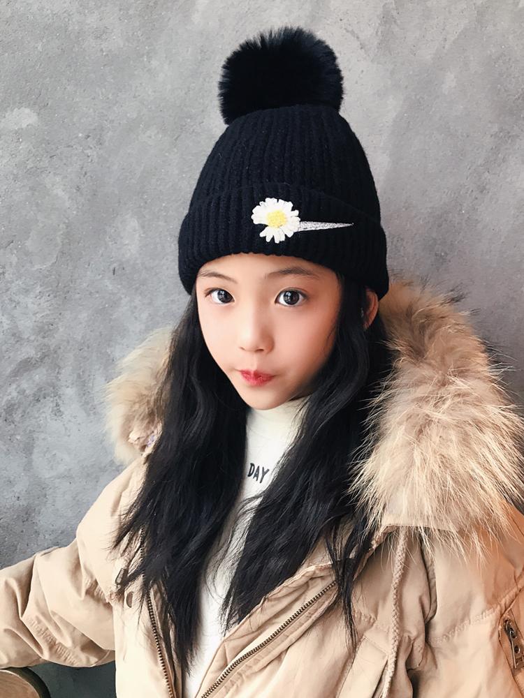 Осень и зима корейский ребенок шерстяную шапку тепло рукав головной убор мужской и женщины ребенок в больших детей вязаная шапка на открытом воздухе отцовство плюс бархат крышка