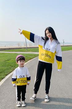 Семейные футболки,  Семейный портрет жарить улица детской одежды 2020 новый волна осень три четыре мать и дитя мать и дочь наряд семья свитер, цена 731 руб