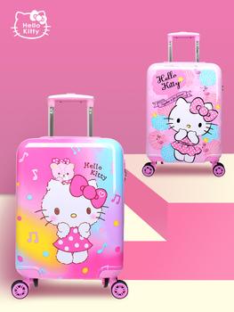 Детские дорожные сумки,  Hello kitty ребенок багажник девушка милый мультики чемодан 18 дюймовыми колесами род коробки может сидеть может посадки, цена 4121 руб
