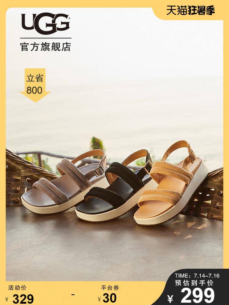 UGG Saguaro 仙人掌系列 Lynnden 女式厚底凉鞋 1111071 天猫优惠券折后¥299包邮 3色可选